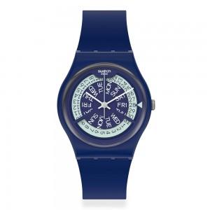 Swatch Gent N-igma Navy GN727 Quartz Blue color Rubber Strap