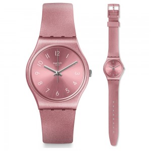 Swatch So Pink GP161 Pink color rubber Strap