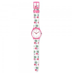 Swatch Monthly Drops Botanicose GP171 Multi color floral rubber Strap