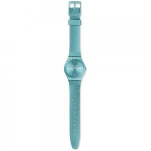 Swatch So Blue GS160 Metallic blue color rubber Strap