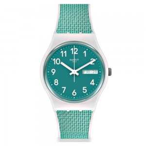 Swatch GW714 Bright Green Rubber Strap