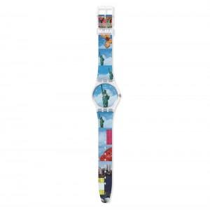 Swatch Gent MoMA New York by Tadanori Yokoo, The Watch GZ351 Rubber strap