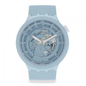 Swatch Big Bold Next C-Blue SB03N100 Quartz Bioceramic strap and frame Light blue color