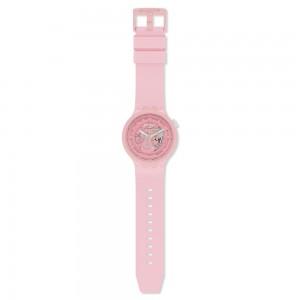 Swatch Big Bold Next C-Pink SB03P100 Quartz Bioceramic strap and frame Pink color