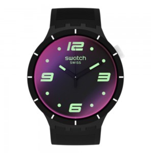 Swatch Big Bold Futuristic Black SO27B119 Black Rubber Strap Dial with photochromic coating
