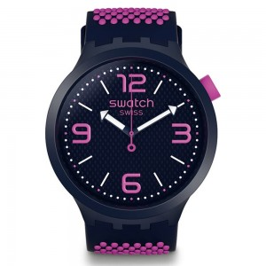 Swatch Big Bold SO27N103 White and blue Rubber Strap