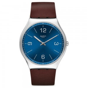 Swatch Skinwind SS07S101 Brown color leather strap