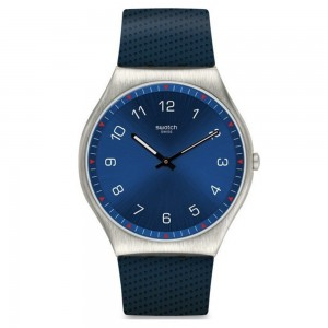 Swatch Skinnavy SS07S102 Blue color Rubber strap