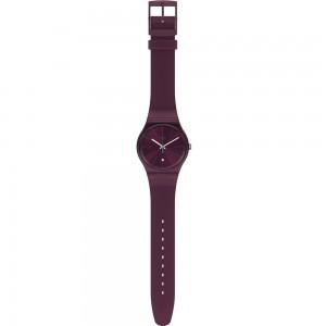 Swatch Essentially SUOR402 Crimson color rubber Strap