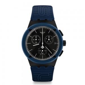 Swatch Bau X-District SUSB418 Blue color rubber strap