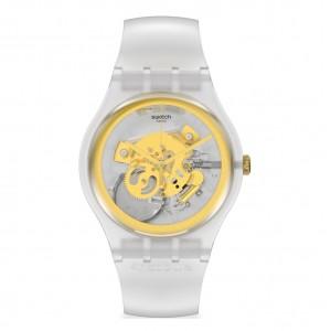 Swatch Club My Time SVIZ102-5300 Transparent rubber strap