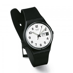Swatch Once Again GB743 Black Rubber Strap