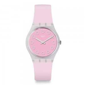 Swatch All Pink GE273 Light Pink color rubber Strap