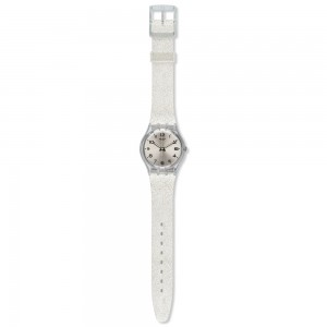 Swatch Silverblush GM416C Silver color Rubber Strap
