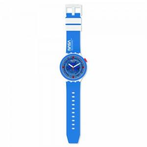 Swatch Nasa Jumpsuit SB03Z100 Quartz Blue rubber strap