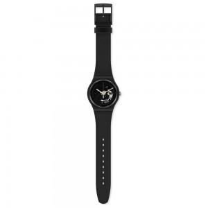 Swatch Spot Time Black SO32B108 Quartz Bioceramic Black organic strap