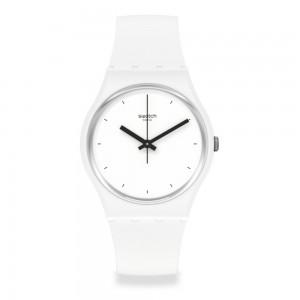 Swatch Think Time White SO31W100 Quartz Bioceramic White organic strap