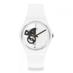 Swatch Live Time White SO31W101 Quartz Bioceramic White organic strap