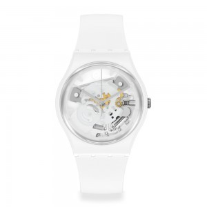 Swatch Think Time White SO31W102 Quartz Bioceramic White organic strap