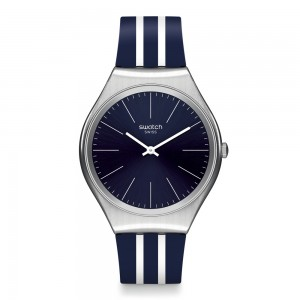Swatch Skinblueiron SYXS106 Blue color rubber strap