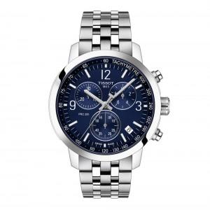 Tissot PRC 200 Chronograph T114.417.11.047.00 Quartz chronograph Stainless steel Bracelet Blue color dial
