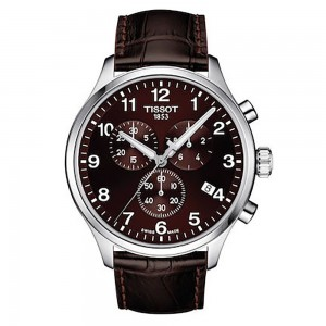 Tissot Chrono XL Classic T116.617.16.297.00 Stainless steel Brown leather strap Brown color dial