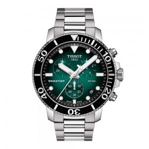Tissot Seastar 1000 Quartz Chronograph T120.417.11.091.01 Stainless steel Bracelet Aluminium bezel Green color dial