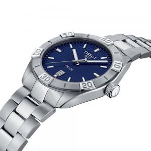 Tissot PR 100 Spor Gent T101.610.11.041.00 Quartz Stainless steel Bracelet Blue color dial