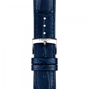TISSOT Carson Premium T122.410.16.043.00 Stainless steel Leather blue strap Latin numerals Blue dial