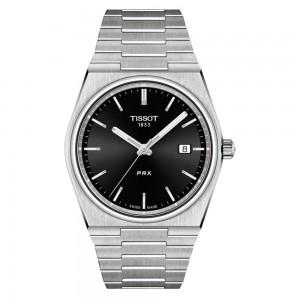 Tissot Prx T137.410.11.051.00 Quartz Stainless steel Bracelet Black color dial