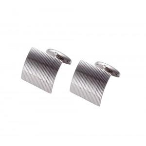 Men's cufflinks White gold Κ14 Code 005424