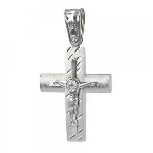 Men's cross Aneli collection K14 006970 White gold