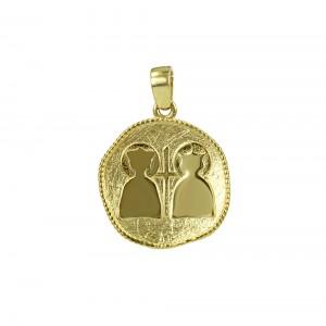 Christian pendant Yellow gold K14 Code 006348
