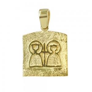 Christian pendant Yellow gold K14 Code 006637