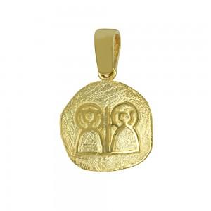 Christian pendant Yellow gold K14 Code 007165