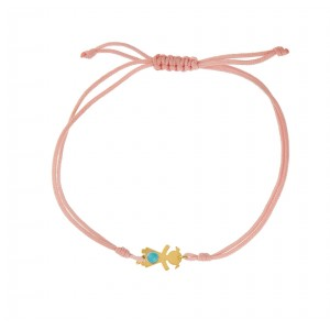 Bracelet for baby girl K14 with turquoise 004727