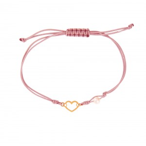 Bracelet for baby girl K14 with pearl 005371