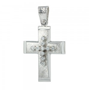 Women's cross Aneli collection K14 006956 white gold with zircon