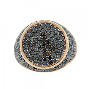 Chevalier Ring Pink gold K14 with semiprecious stones Code 003790