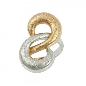 Ring  White and pink gold K14 with code 005811