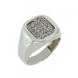Ring  White gold K14 with Code 006905
