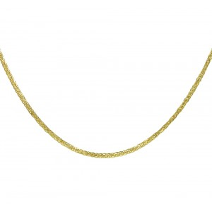Chain  K14 solid Yellow gold ALK003