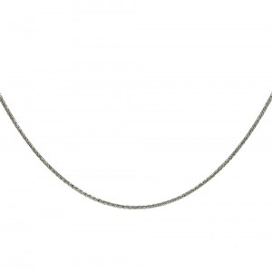 Chain  K14 solid White gold  ALL001