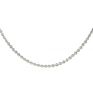 Chain  K14 solid White gold  ALL0012