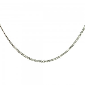 Chain  K14 solid White gold  ALL007