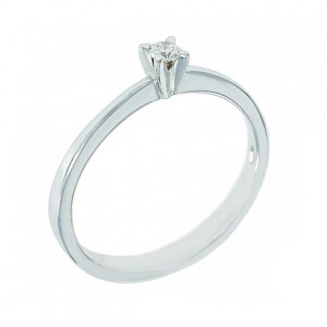 Solitaire ring White gold K18 with diamond Code 002949