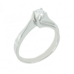 Solitaire ring White gold K18 with diamond Code 003715