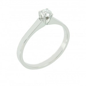 Solitaire ring White gold K18 with diamond Code 003900