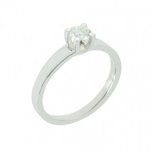 Solitaire ring White gold K18 with diamond Code 003907