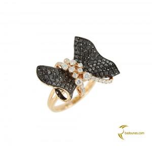 Diamond ring Pink gold K18 Code 004381